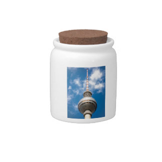 Television tower in Berlin (Germany) Candy Dishes