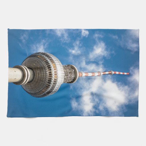 Television tower in Berlin (Germany) Kitchen Towel