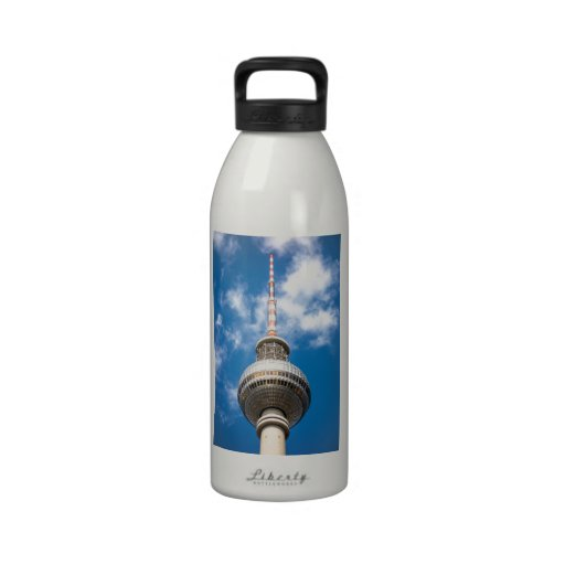 Television tower in Berlin (Germany) Drinking Bottle