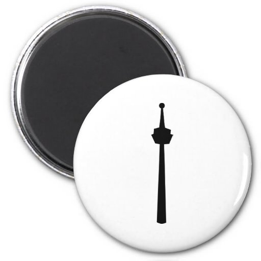 Television tower magnet