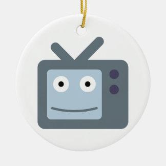 Television TV television set Christmas Ornament