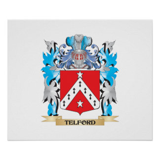 Telford Coat of Arms - Family Crest Poster
