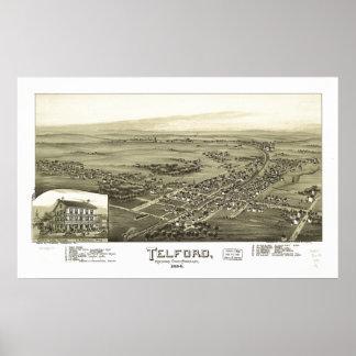 Telford Pennsylvania 1894 Antique Panoramic Map Poster