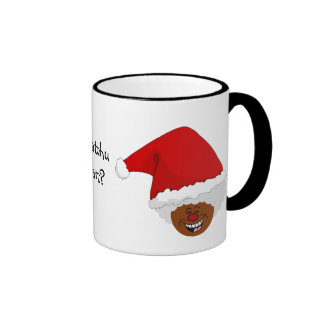 Tell Black Santa What You Want for Christmas Coffee Mugs