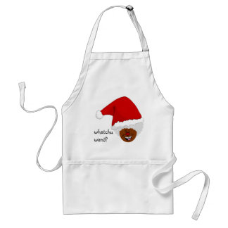 Tell Black Santa What You Want for Christmas Standard Apron
