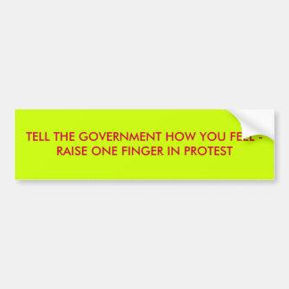 Tell How You Feel Bumper Sticker