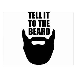 Tell it to the beard. postcard