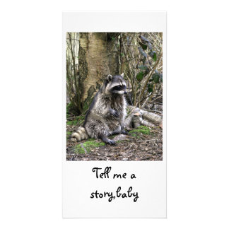 Tell me a story,baby photo card template