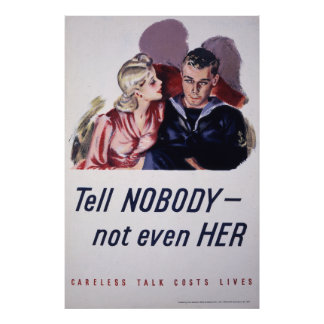 Tell Nobody - Not Even Her Poster