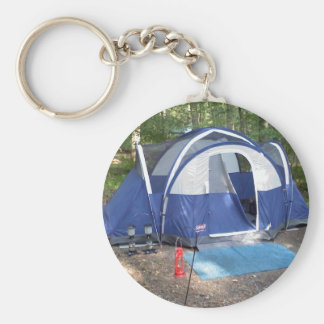 Tell the world you like to go camping. basic round button key ring