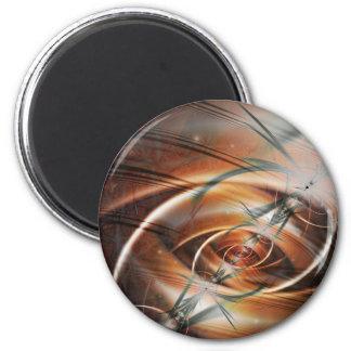 Telluric Confluence 6 Cm Round Magnet