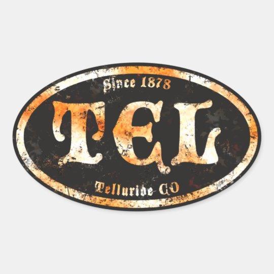 Telluride Black Derelict Oval Sticker