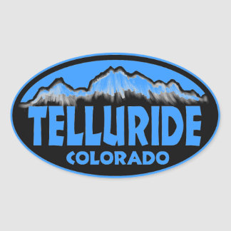 Telluride Colorado blue oval stickers