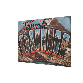 Telluride, Colorado - Large Letter Scenes Canvas Print