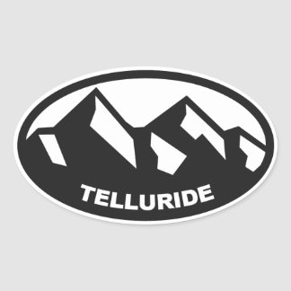 Telluride Colorado Oval Sticker