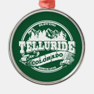 Telluride Old Circle Green Christmas Ornament