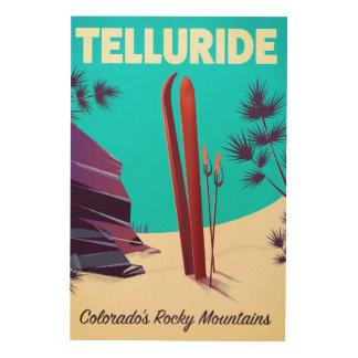 Telluride Ski Rocky Mountains Wood Wall Art