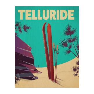 Telluride Ski Rocky Mountains Wood Wall Decor