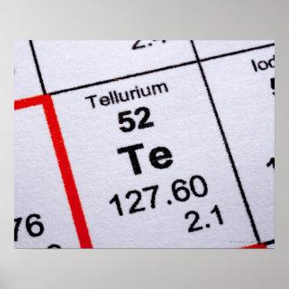 Tellurium molecular formula poster