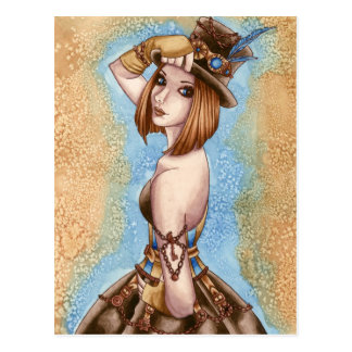 Telsa - Steampunk Postcard