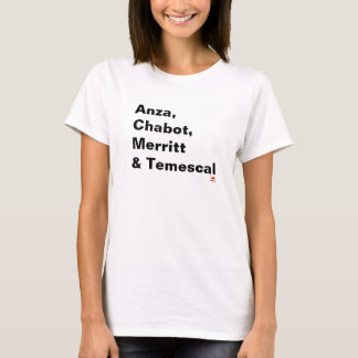Temescal, Anza, Chabot & Merritt T-Shirt