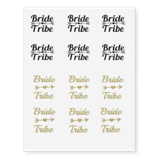 Temp Bride Tribe Bridesmaid women's gold glitter
