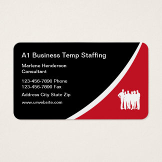 Temp Employment Agency Business Card