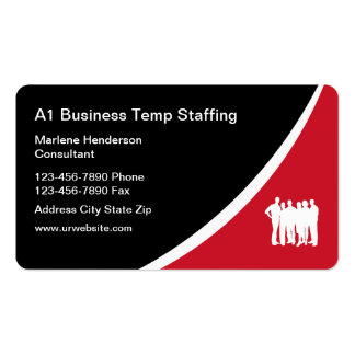 Temp Employment Agency Pack Of Standard Business Cards