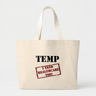 Temp no healthcare jumbo tote bag