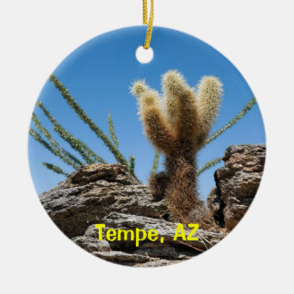 Tempe Arizona Keepsake Round Ceramic Decoration