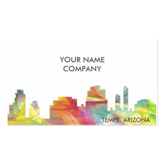 TEMPE, ARIZONA SKYLINE WB1 - PACK OF STANDARD BUSINESS CARDS