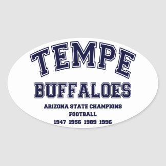 Tempe Buffaloes Oval Sticker