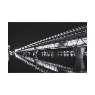 Tempe Town Lake at Night Canvas Print