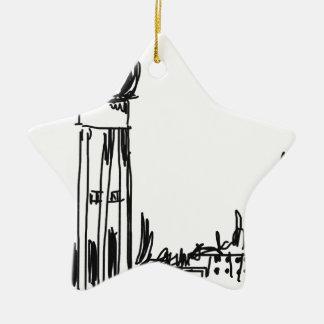 Tempelhof Ceramic Star Decoration