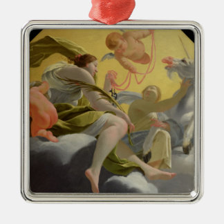 Temperance, from series of Four Cardinal Silver-Colored Square Decoration