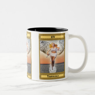 Temperance Tarot Card Art Two-Tone Coffee Mug
