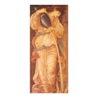 Temperantia by Burne Jones, Vintage Victorian Art 10 Cm X 24 Cm Invitation Card