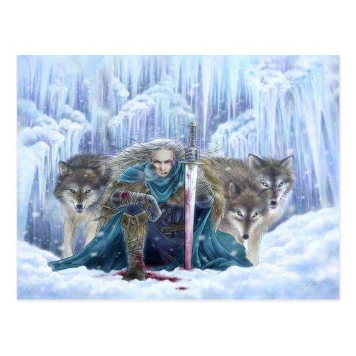Tempest of Ice Fantasy Postcard