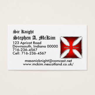 Templar Business Card Template