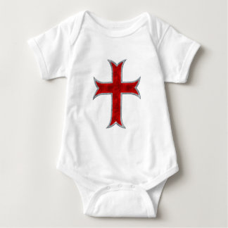 Templar Cross Baby Bodysuit