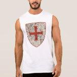 Templar Cross, Distressed Sleeveless Shirt