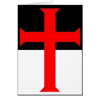 Templar Cross On Beausant Greeting Card