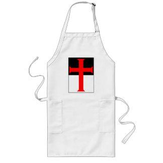 Templar Cross On Beausant Long Apron