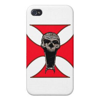 Templar cross skull iPhone 4 cover