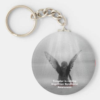 Templar is raising Angelman Syndrome Awareness Basic Round Button Key Ring