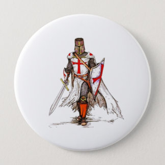 Templar Knight 10 Cm Round Badge