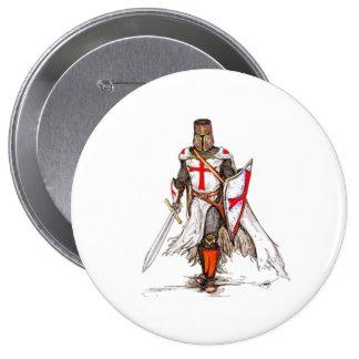 Templar Knight 10 Cm Round Badge