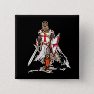 Templar Knight 15 Cm Square Badge