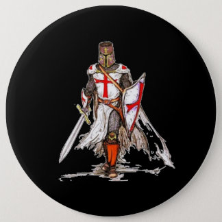 Templar Knight 6 Cm Round Badge