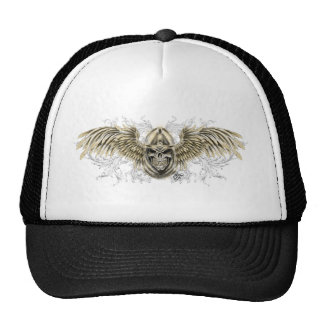 Templar Knight Gothic Medieval Skull with Wings Cap